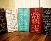 Custom Scripture Art, Wooden Signs