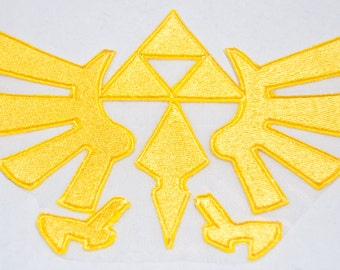 Legend of Zelda Hyrule Crest 10 inch wide fully embroidered iron on patch