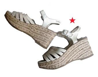 CHARLES JOURDAN  sandals platform I cord wedge us5 fr36 uk4