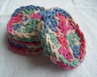 Set of 4 Cotton Cleansing Pads - multicolor