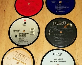 Vinyl Record Album Coasters set of 6
