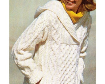 Free Knitting Pattern Ladies Hooded Cardigan : Popular items for hooded sweater on Etsy