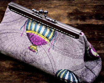 Clutch Purse, Mauve Linen Evening Bag, Gift, Ready to Ship By WhiteCross Designs, Handmade in USA