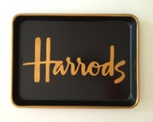 M gold Harrods inspired black tray