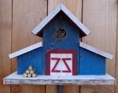 Rustic Reclaimed Barnwood Birdhouse (Barn)