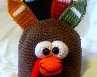 Gobbley Gobble Turkey Hat Pattern