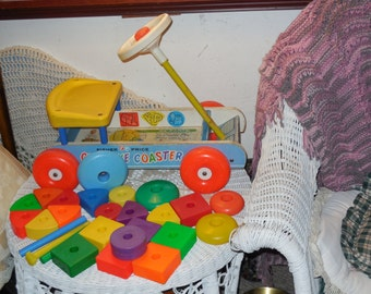 1964 Fisher Price  Creative Coaster / Not Included In Coupon Discount Sale : )NOT INCLUDED In Any Discount or Couon Sales