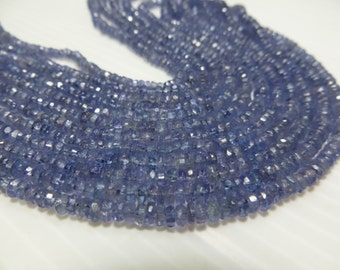 Tanzanite Wholesale Price  5 Strand X14 Inches Good Quality Rondell Micro Faceted Beads 100% Natural Size 2.50 mm 3 mm Approx