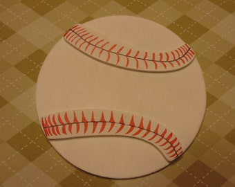 LARGE baseball wood cut outs, 5 inch