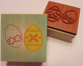2 Easter Eggs on one stamp, 42 x 27 mm (SB3)