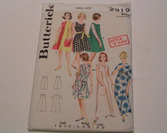 Vintage Butterick Pattern 2919 Junior Miss Quick n Easy Lingerie