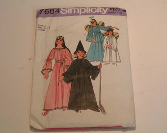 Vintage Simplicity Pattern Costume 7684 Child Girl Angel Fairy Witch Princess