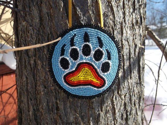 Native American Bear Paw Necklacepow Wow