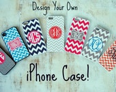 Design Your Own Personalized iPhone Case, iPhone 4/4S, iPhone 5,  iPhone 5S, iPhone 5C, iPhone 6, Samsung Galaxy, Monogrammed Phone Case