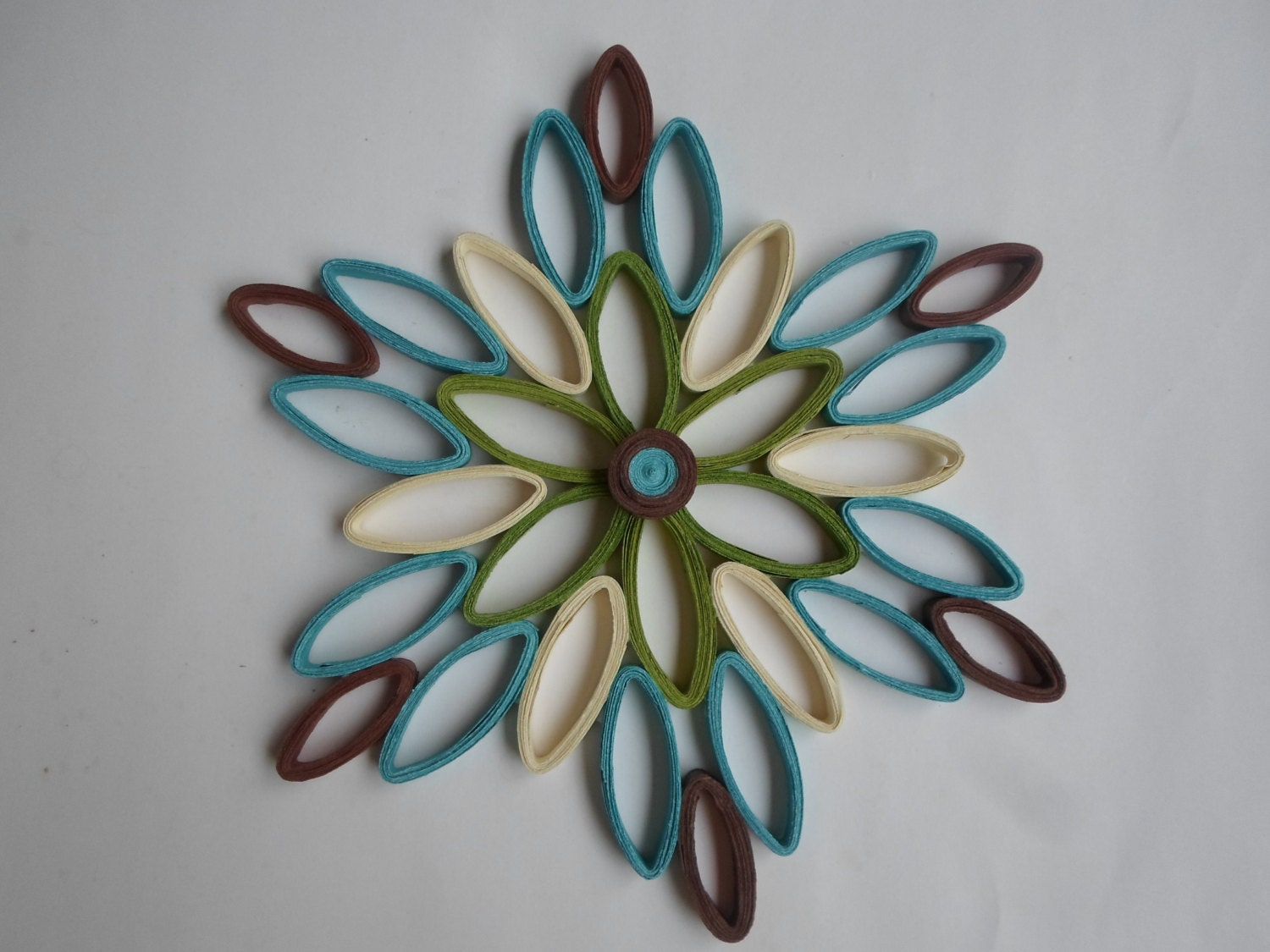 Turquoise wall hanging modern wall decor paper wall art for Decoration paper