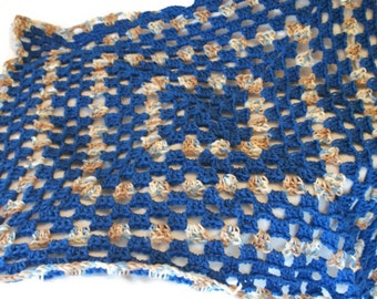 Baby Doll Blanket, Crochet Doll Afghan, Doll Blanket, Crochet Doll blanket, Blue Doll Blanket, Afghan Blanket, Doll Cover