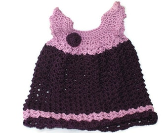 Crochet Baby Clothes, Purple Baby Dress, Newborn Clothes, Infant Clothes, Crochet Girl Dress, Infant Girl Clothes, Angel Wing Dress