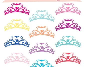Digital Princess Crown Clipart Digital Clipart, Digital Clip art, Embellish digital scrapbooking, DIY iron on INSTANT DOWNLOAD