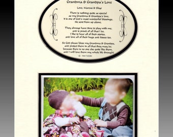 My Grandma and Grandpa's Love - or grandma, papa, nana, grandparent mothers fathers day Birthday Personalized Photo Gift