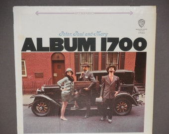 """Peter Paul and Mary - Album 1700 - """"I Dig Rock and Roll Music """" - Warner Bros Records W7 1968 Re-Issue - Vintage Vinyl LP Record Album"""