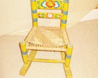 Child's Ladderback Rocking Chair