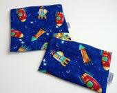 Rocket Print Eco-Friendly Reusable Snack & Sandwich Bag