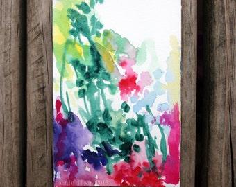"Archival Print of Original Watercolor Painting ""Wildflower"""