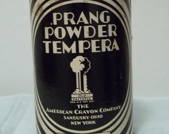 Antique 1910's Prang Powder Tempera Tin