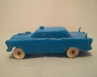 Vintage 1960's Blue Plastic Police Car