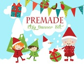 Etsy Banner Set - Premade Etsy Banner - Etsy Shop Banner - Mrs. Claus Etsy Banner Set  #161 - icon Included!