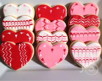 Valentine Heart Cookies - Assorted Designs