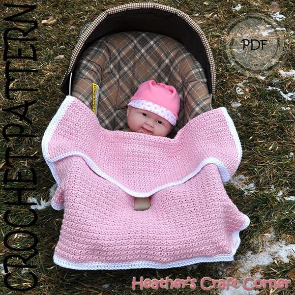crochet pattern baby licious car seat stroller blanket us. Black Bedroom Furniture Sets. Home Design Ideas