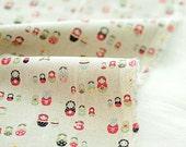 Matryoshka Cotton Linen By the Yard 38861