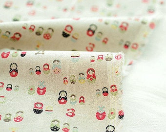 Matryoshka Cotton Linen By the Yard 38861