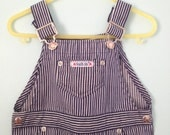 Vintage Health Tex Striped Overalls Train Conductor Toddler 3T