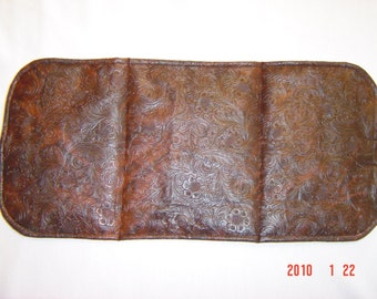 Faux Tooled Leather Changing Pad
