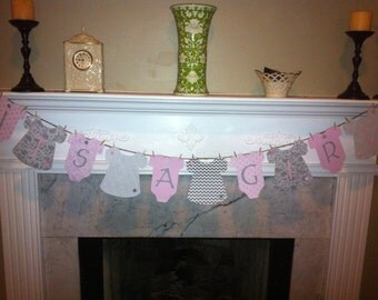 Baby shower Onesie Banner