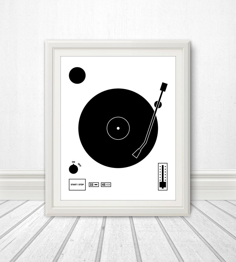 Vinyl record speaker set vinyl print wall art home for Vinyl record wall art