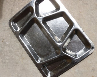 Mess Hall Vintage US Navy Heavy Stainless Steel Lunch Tray SALE