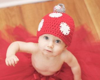 Crochet Christmas Ornament Hat- Baby Size