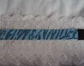 Turquoise On Light Blue Zebra/Tiger Stripe Glitter headband - Exercise Headband - Glitter - Sparkle - Head bands - Hairbands - Hair band