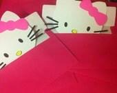 Hello Kitty Custom Birthday Invitations Set of 12