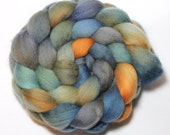 Hand Painted Roving - Lakeside Campfire - Falkland Wool, 4 ounces