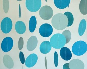 Blue Paper Garland, Boy's Birthday Party, Baby Shower, Birthday Decoration