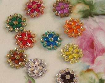 Flower Scrapbook Embellishments, Multi Color Flowers, Embellishments, Scrapbook Accents, Paper Craft Flowers, Scrapbook Flowers, Flower Sets