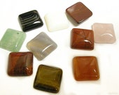 10pc 16mm Mix Square Gemstone Cabochons-7696