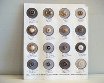 Button Factory Sample Card - Vintage Button Card - Fancy Buttons