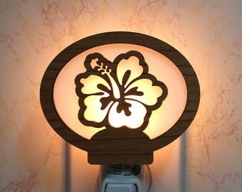 Hibiscus Flower Night Light