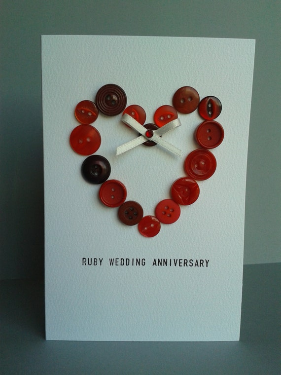 Ruby Wedding Gifts For Parents: Items Similar To Ruby 40th Wedding Anniversary Button