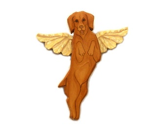 Angel Dog Vizla Dog Angel Wooden Wall Hanging